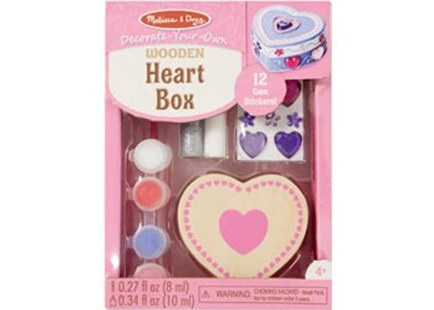 Melissa & Doug - Created by Me! Wooden Heart Box - Children's Toys & Games Arts & Crafts
