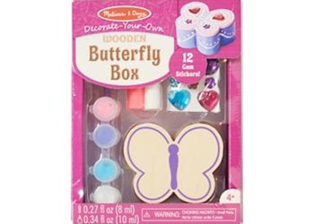 Melissa & Doug - Created by Me! Wooden Butterfly Box