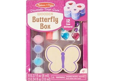 Melissa & Doug - Created by Me! Wooden Butterfly Box - Children's Toys & Games Arts & Crafts