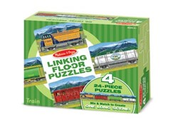 Melissa & Doug - Linking Floor Puzzles - Train (24pc x 4)