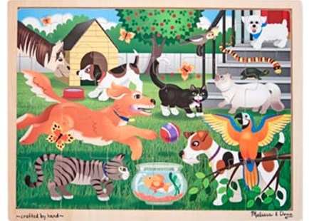 Melissa & Doug - Pets At Play Jigsaw - 24pc - Children's Toys & Games Games & Puzzles