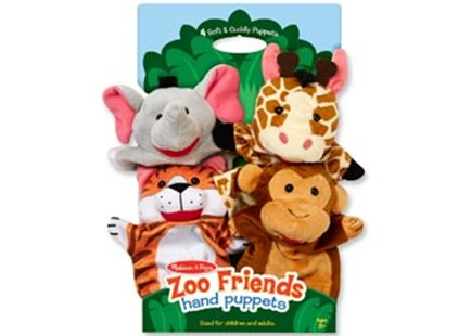 Melissa & Doug - Hand Animal Puppets - Zoo - Children's Toys & Games Infant Toys
