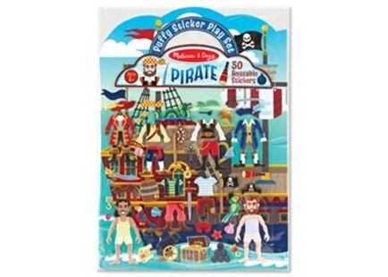 Melissa & Doug - Reusable Puffy Sticker Play Set - Pirate - Children's Toys & Games Arts & Crafts