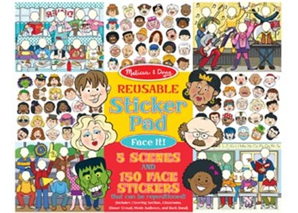 Melissa & Doug - Reusable Sticker Pad - Face It! - Children's Toys & Games Arts & Crafts