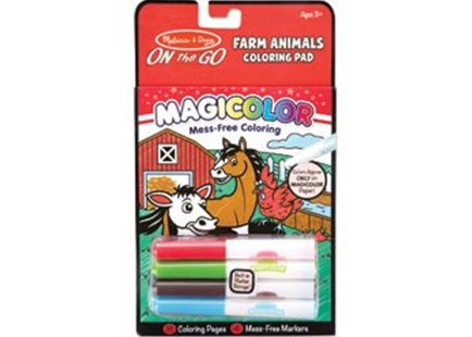 Melissa & Doug - On The Go - Magicolor - Colouring Pad - Farm Animals - Children's Toys & Games Arts & Crafts