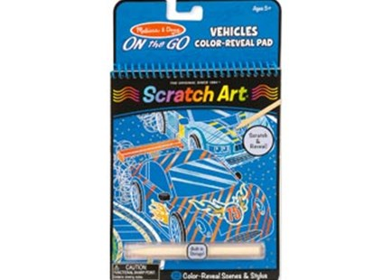 Melissa & Doug - On The Go - Scratch Art Color-Reveal Pad - Vehicles - Non-Fiction Art & Activity