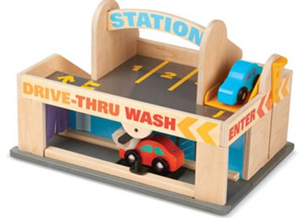 Melissa & Doug - Service Station Parking Garage - Children's Toys & Games Vehicles