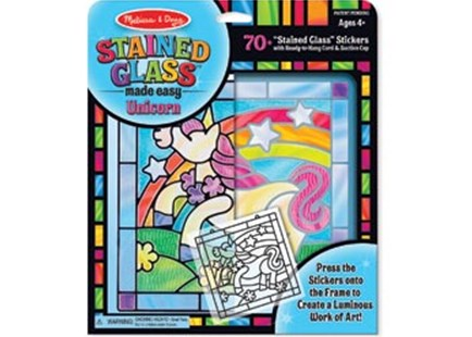 Melissa & Doug - Stained Glass Made Easy - Unicorn - Children's Toys & Games Arts & Crafts