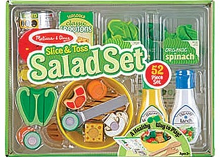 Melissa & Doug - Slice & Toss Salad Set - Children's Toys & Games Dress Up & Role Play