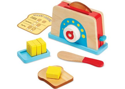 Melissa & Doug - Let's Play House! Toaster, Bread & Butter Set - Children's Toys & Games Dress Up & Role Play