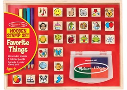 Melissa & Doug - Favorite Things Stamp Set - Children's Toys & Games Arts & Crafts