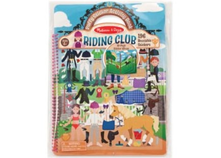 Melissa & Doug - Reusable Puffy Sticker Activity Book - Riding Club - Children's Toys & Games Arts & Crafts