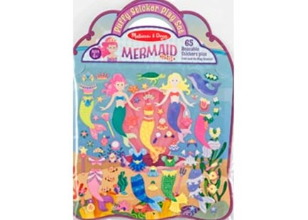 Melissa & Doug - Reusable Puffy Sticker Play Set - Mermaid - Children's Toys & Games Arts & Crafts