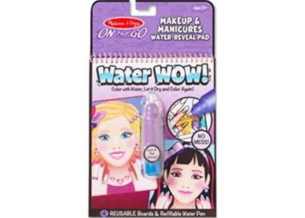 Melissa & Doug - On The Go - Water WOW! - Makeup & Manicures - Children's Toys & Games Arts & Crafts