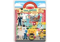 Melissa & Doug - Reusable Puffy Sticker Activity Book - Cool Careers