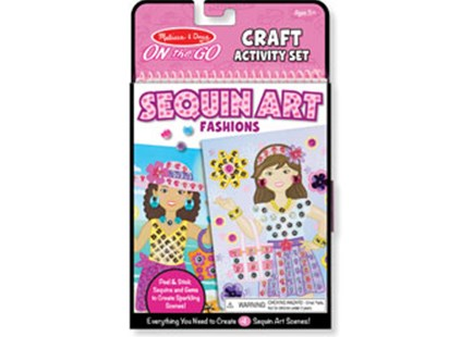 Melissa & Doug - On The Go - Sequin Art - Fashions - Children's Toys & Games Arts & Crafts