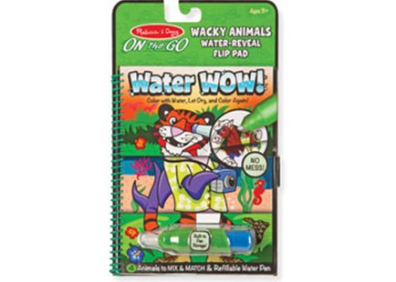 Melissa & Doug - On The Go - Water WOW! Wacky Animals Flip - Children's Toys & Games Arts & Crafts