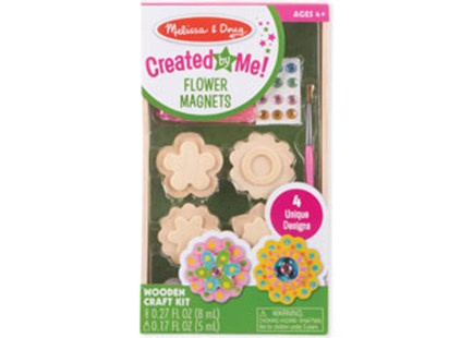 Melissa & Doug - Created by Me! Flower Magnets - Non-Fiction Art & Activity