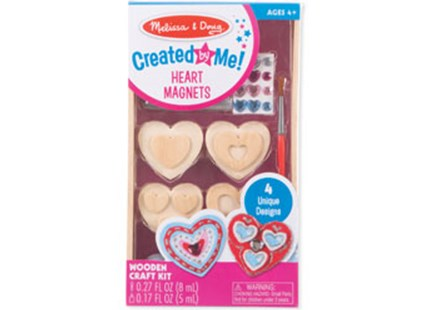 Melissa & Doug - Created by Me! Heart Magnets - Children's Toys & Games Arts & Crafts