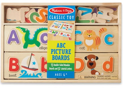 Melissa & Doug - ABC Picture Boards - Children's Toys & Games Educational