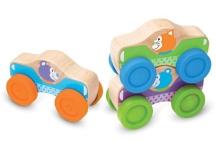 Melissa & Doug - First Play - Animal Stacking Cars - Children's Toys & Games Infant Toys