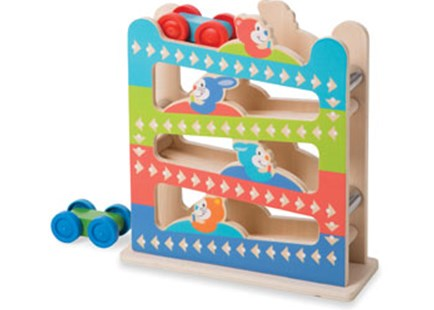 Melissa & Doug - First Play - Roll & Ring Ramp Tower - Children's Toys & Games Infant Toys