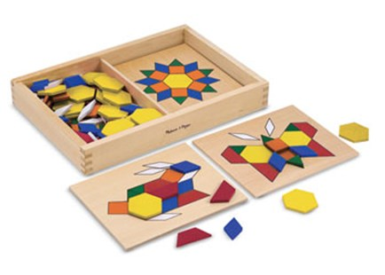 Melissa & Doug - Pattern Blocks And Boards - Children's Toys & Games Educational