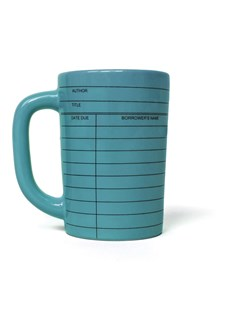 Library Card Mug - Blue by Out Of Print (0008523511539) - PaperBack