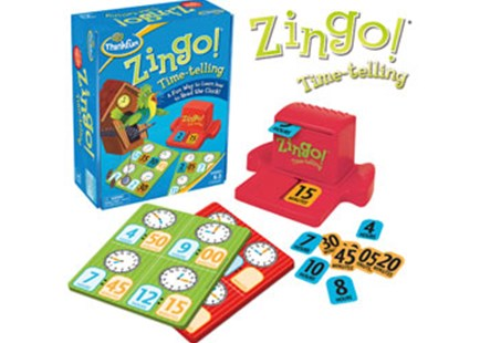 ThinkFun - Zingo! Time-Telling Game by  (0019275077051) - Game - Children's Toys & Games Games & Puzzles