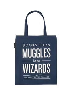 Books Turn Muggles into Wizards Tote Bag by  (0024589799131) - Bag - Bags & Carry Tote & Shopper Bags