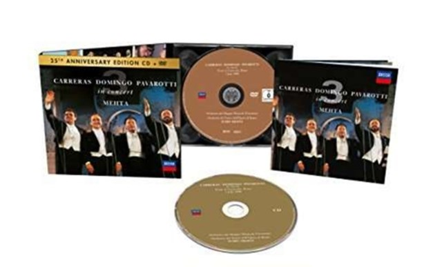 Carreras/Domingo/Pavarotti in Concert - CD / Album with DVD