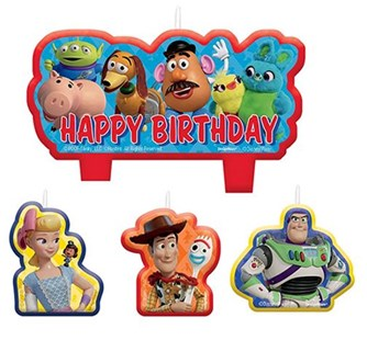 Toy Story 4 Happy Birthday Candle Set - Partyware