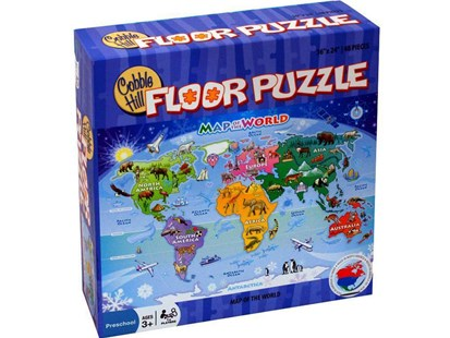 Map Of The World 48 Piece Puzzle Floor Pz - Games