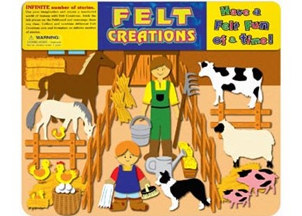 Felt Creations - Barn - Children's Toys & Games Arts & Crafts