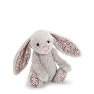 Blossom Bashful Silver Bunny Medium - Children's Toys & Games Plush