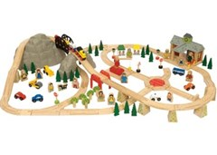 Bigjigs - Mountain Railway Set - 112pcs