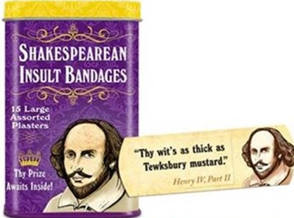 Archie McPhee Shakespearean Insult Bandages - Lifestyle