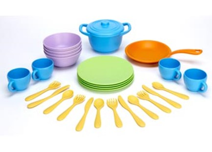 Green Toys - Cookware Dining Set - Children's Toys & Games Dress Up & Role Play