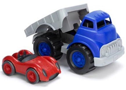 Green Toys - Flatbed with Red Race Car - Children's Toys & Games Vehicles