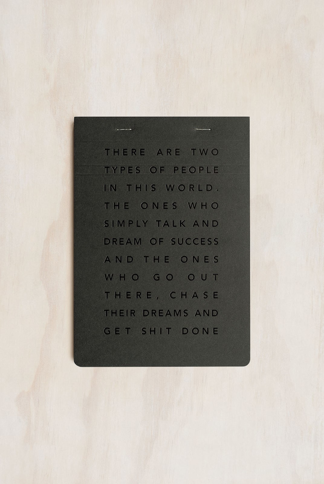 MiGoals - Get Shit Done Notepad - A5 - Soft Cover - Manifesto Black & Black Foil