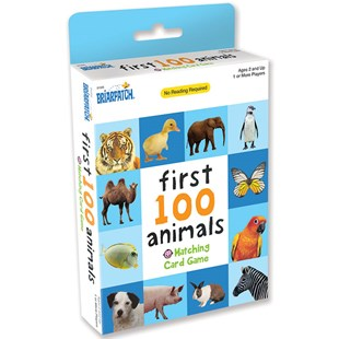 First 100 Matching Card Game Animals - Card Games Party & Family