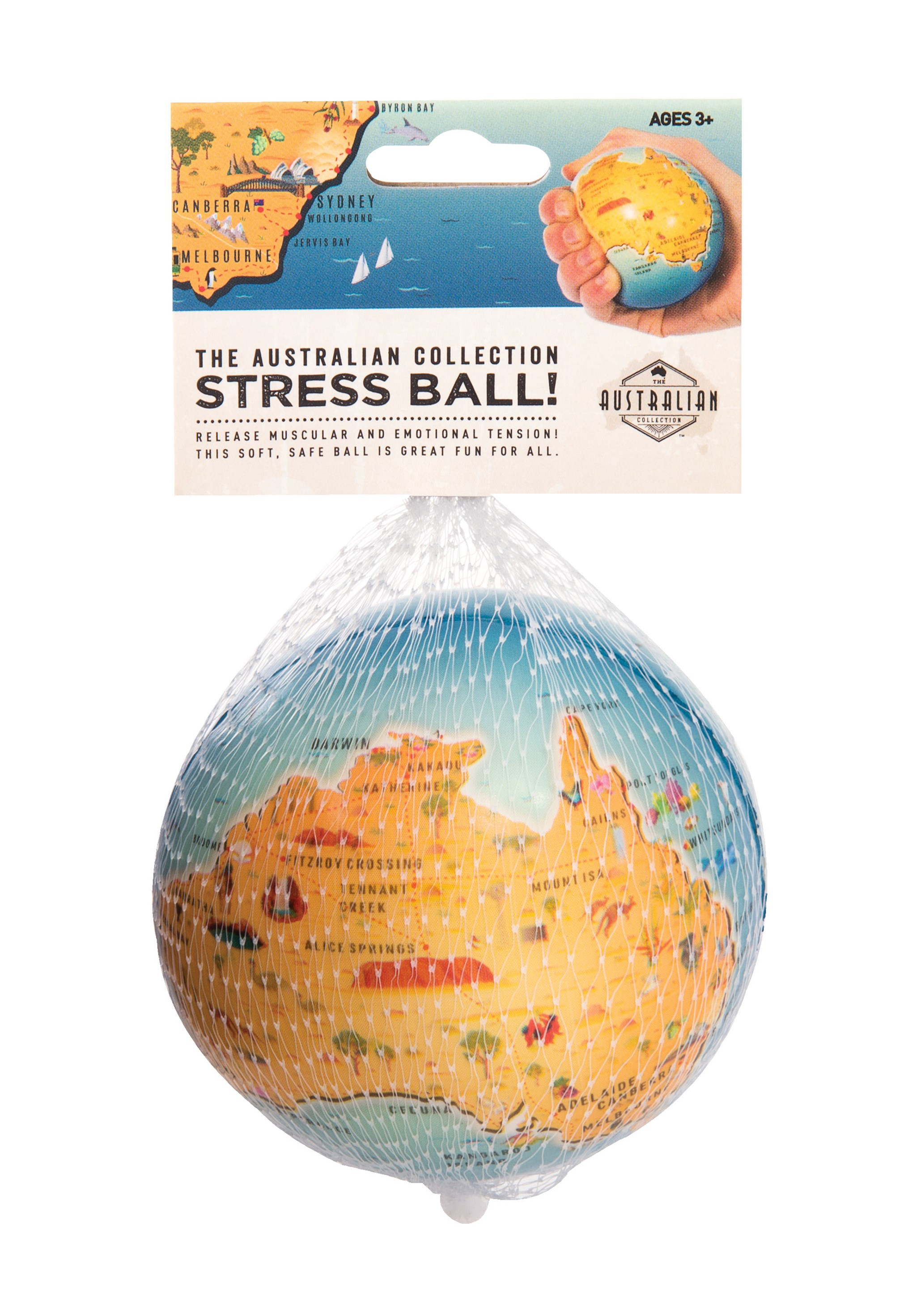 The Australian Collection Map Stress Ball