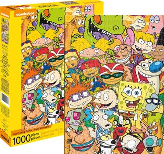 Nickelodeon Cast 1000pc Puzzle - Jigsaws