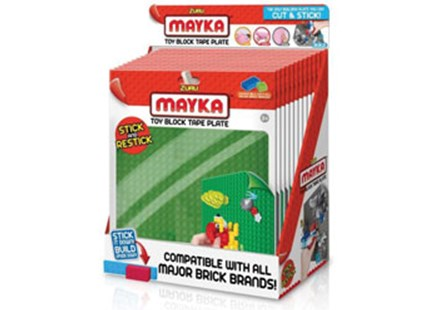 "Zuru MAYKA Tape Base Plates 8"" X 8"" 1PK - Children's Toys & Games Arts & Crafts"