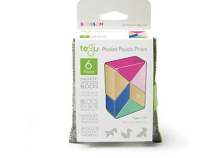 Tegu - Pocket Pouch Prism 6pc - Blossom - Children's Toys & Games Building & Blocks
