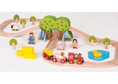 Bigjigs - Farm Train Set - 44pcs