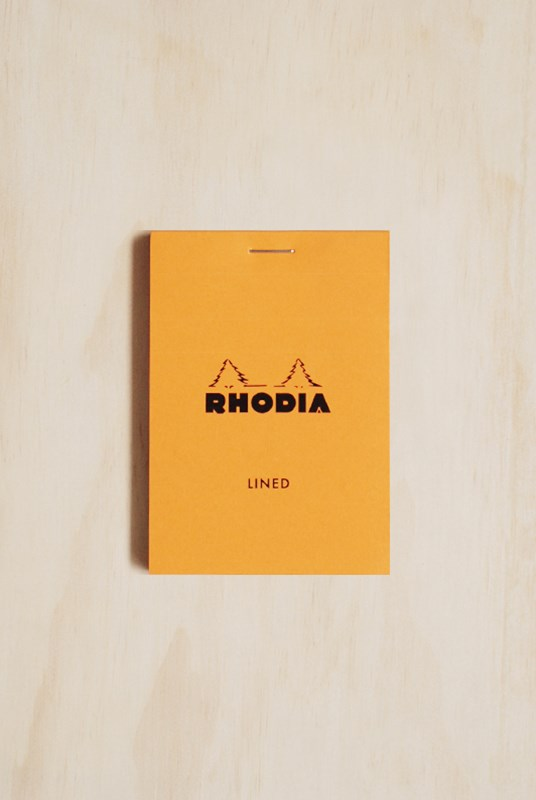 Rhodia - Pad #11 - Top Stapled - Ruled - A7 - Orange