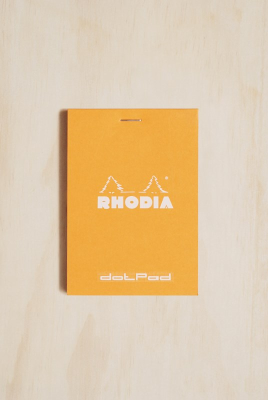 Rhodia - Pad #12 - Top Stapled - Dot Grid - Pocket - Orange