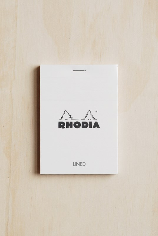 Rhodia - Pad #12 - Top Stapled - Ruled - Pocket - White