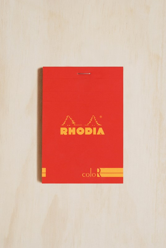 Rhodia - Premium 'R' Pad #12 - Colour Series - Ruled - A6 - Poppy Red